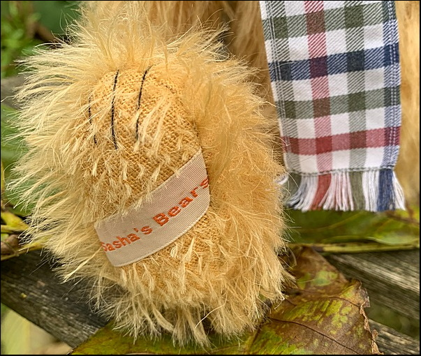 Hector's paw with Sasha's Bears label